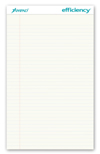 "Evidence Legal Pad, White, 8 1/2"" x 14"""