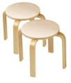 Wooden Sitting Stools (set of 2)