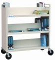Book Carts, Double Sided Six Shelves