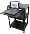"Steel Cart, Adjustable 26"" to 42"" with Pull Out Lap Top Shelve and Electric"