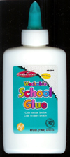Economy Washable School Glue, 4 oz. bottle