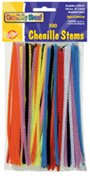 "Chenille Stems, Assorted 6"" Stems"