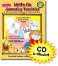 Write On Journaling Templates Clip Art with CD
