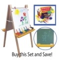 Adjustable Floor Easel & Learn Your Colors Paint Crate Set