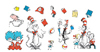 Cat in the Hat Large Characters Bulletin Board Set