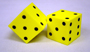 "Foam Dice, 2"" Dot, Set of 2"