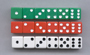 Dot Dice, 6 each of red, white, and green