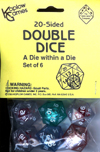 20-Sided Double Dice, Assorted, Set of 6