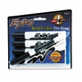 Expo Dry Erase Markers, 4 Black, Chisel Tip