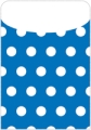 Peel & Stick Brite Pockets, Blue Polka Dots, Bag of 25