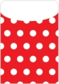 Peel & Stick Brite Pockets, Red Polka Dots, Bag of 25