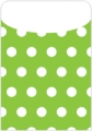 Peel & Stick Brite Pockets, Green Polka Dots, Bag of 25