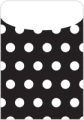 Peel & Stick Brite Pockets, Black Polka Dots, Bag of 25