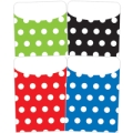 Peel & Stick Brite Pockets, Assorted Polka Dots, Bag of 25