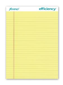 "Evidence Legal Pad, Canary, 8 1/2"" x 11 3/4"""