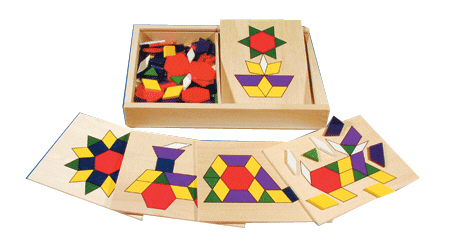 Wooden Pattern Matching Shapes