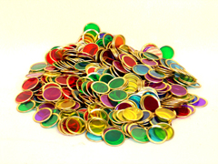 Magnetic, 500 Assorted Counting Chips Only